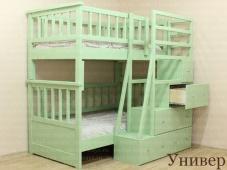 Двухъярусная кровать с лестницей комодом «Универ»