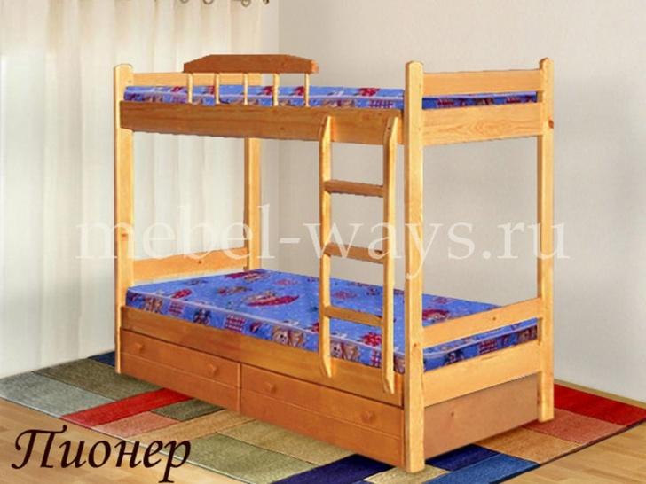 Двухъярусная кровать для подростков «Пионер»