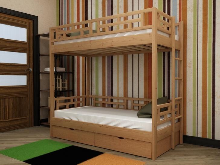 Двухъярусная кровать с боковой лестницей «Руфина 40»