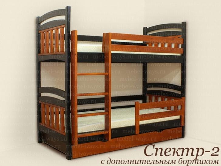 Недорогая двухъярусная кровать с матрасами «Спектр-2»