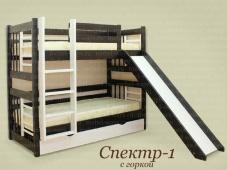 Детская двухъярусная кровать с горкой «Спектр 1»