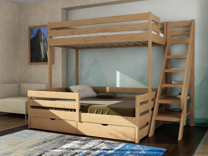 Двухъярусная кровать с местом для родителей «Руфина 28»