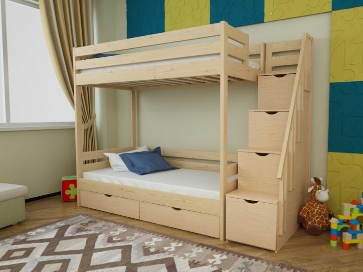 Двухъярусная кровать с ступеньками ящиками «Руфина 23»