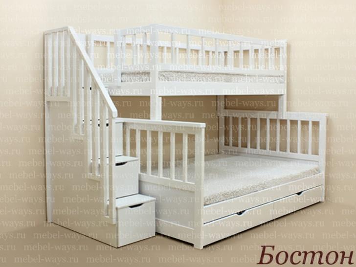 Двухъярусная кровать с ящиками «Бостон»