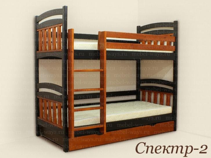 Двухъярусная кровать для взрослых и детей «Спектр-2»