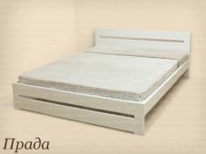 Белая деревянная двуспальная кровать «Прада»
