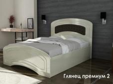 Двуспальная глянцевая кровать «Глянец Премиум — 2»