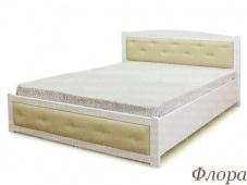Двуспальная кровать белого цвета «Флора»