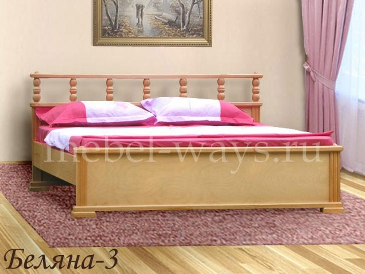 Кровать с фигурной спинкой «Беляна-3»