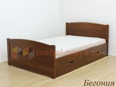 Двуспальная кровать из дерева с ящиками «Бегония»