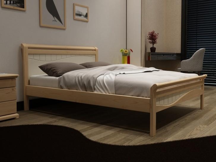 Двуспальная кровать из сосны «Идиллия-5»