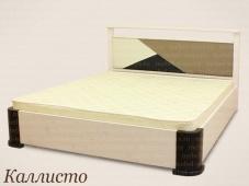 Белая кожаная кровать «Каллисто»