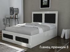 Двуспальная кровать МДФ «Глянец Премиум — 3»
