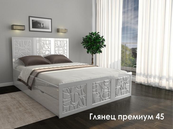 Двуспальная кровать премиум класса «Глянец Премиум – 45»