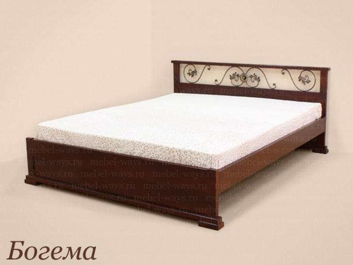 Двуспальная кровать с ковкой «Богема»