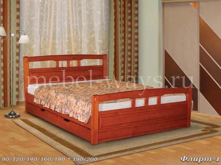 Двуспальная кровать с ящиками «Флирт 1»
