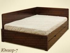 Двуспальная кровать со спинками «Юниор-7»