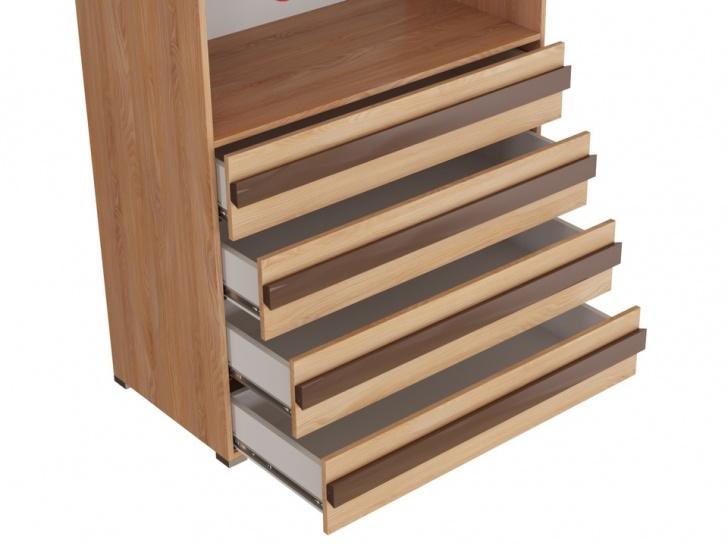 Двустворчатый шкаф с ящиками «Дизайн Люкс – 12» с ящиками