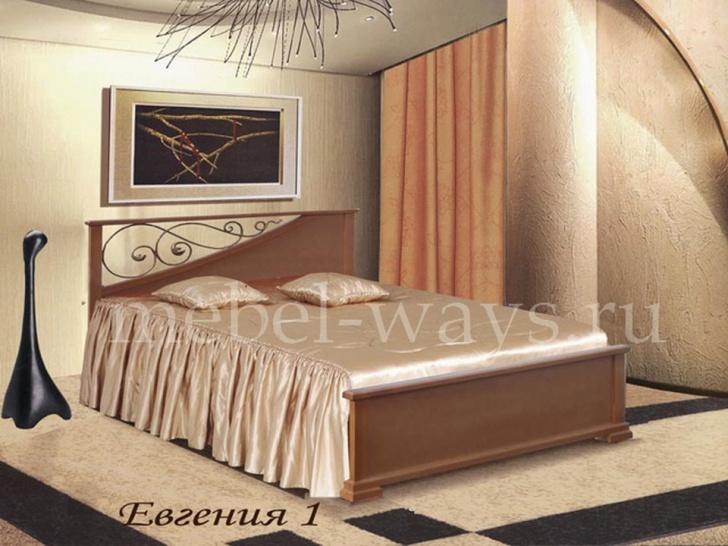 Кровать из массива с ковкой «Евгения-1»