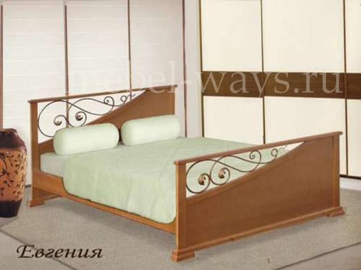 Кровать с узорной спинкой «Евгения»
