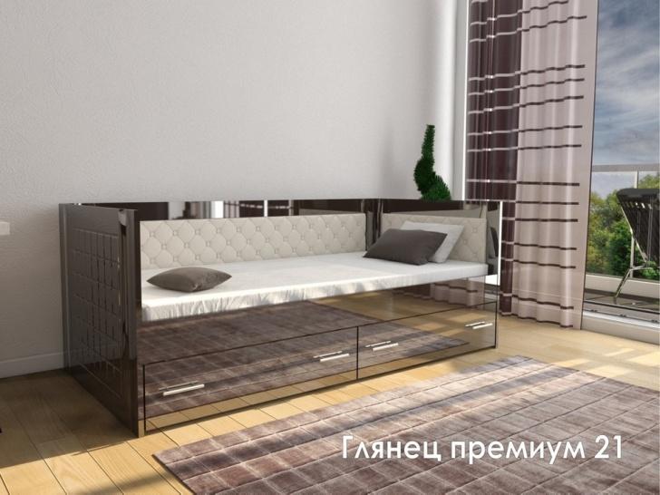 Глянцевая зеркальная кровать «Глянец Премиум-21»