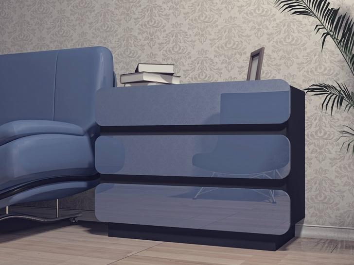 Глянцевый комод для спальни «Модерн-9»