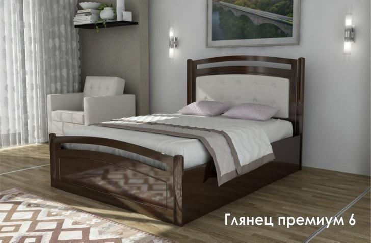 Глянец МДФ кровать «Глянец Премиум-6»