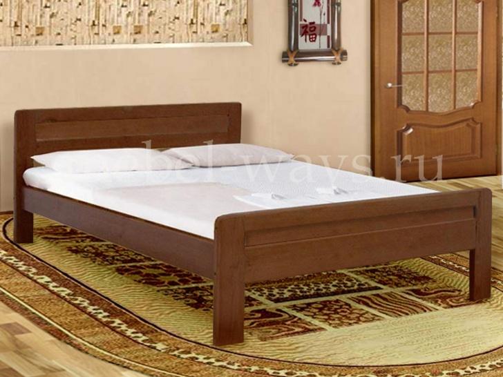 Деревянная двуспальная кровать от производителя «Калинка-4»