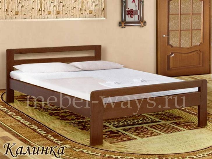 Широкая спальная кровать «Калинка»