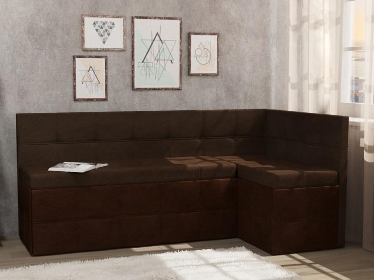 Коричневый угловой диван «Грета – 7»