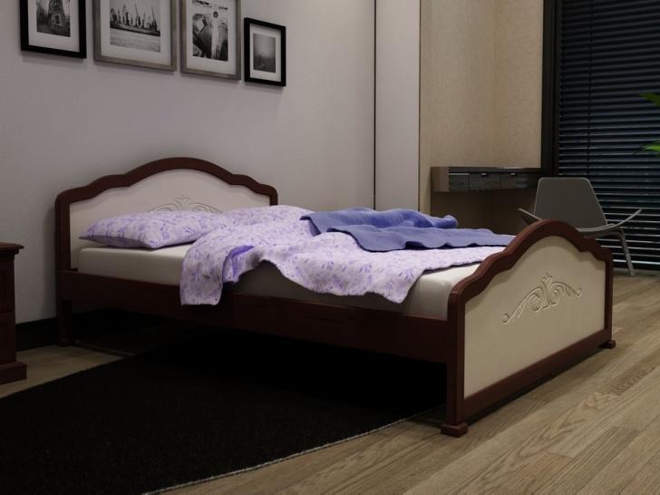 Красивая кровать из дерева «Идиллия-8»