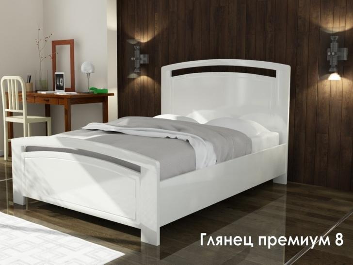 Красивая кровать с изголовьем «Глянец Премиум-8»