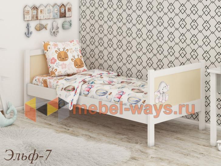 Красивая кроватка для детей от 2 лет «Эльф-7»