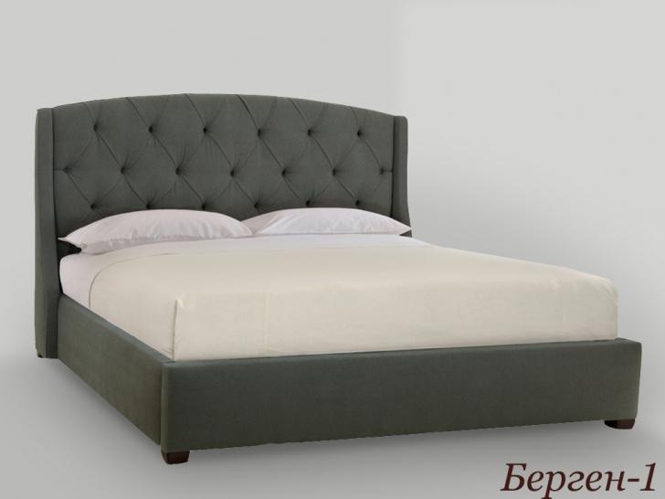 Красивая мягкая кровать «Берген-1»