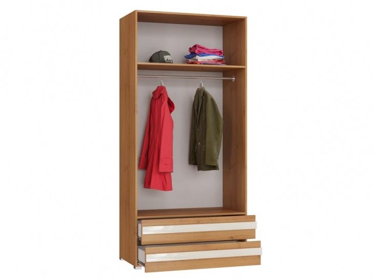 Красивый одежный шкаф «Дизайн Люкс – 11» внутри