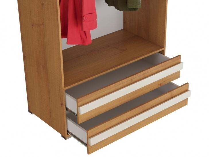 Красивый одежный шкаф «Дизайн Люкс – 11» с ящиками