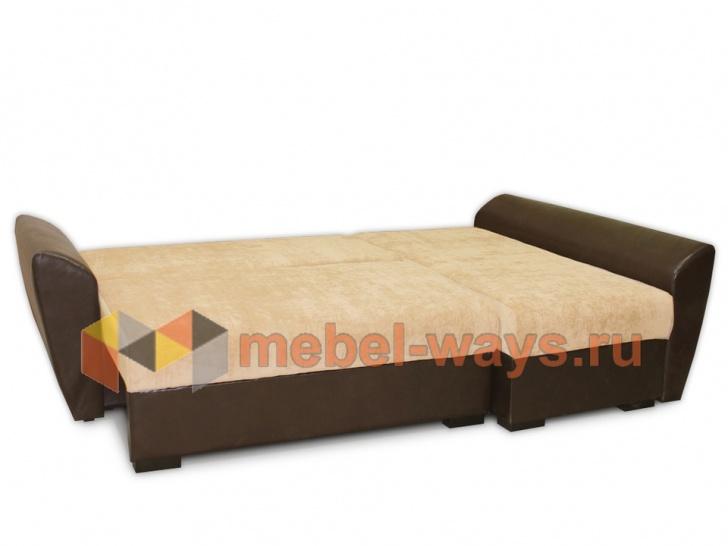 Красивый угловой диван для гостиной «Дюссельдорф» в трансформации