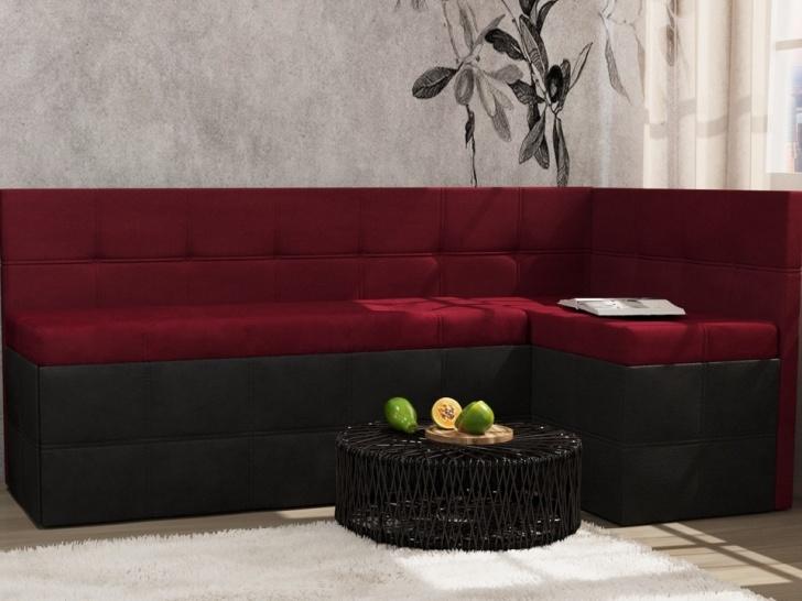 Красный угловой диван на кухню «Грета – 11»