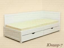 Белая кровать с ящиками «Юниор-7»