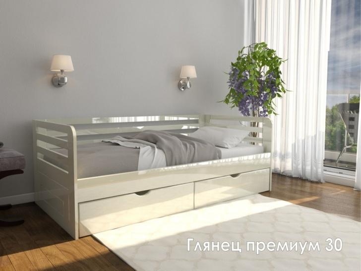 Кровать белый глянец «Глянец Премиум – 30»