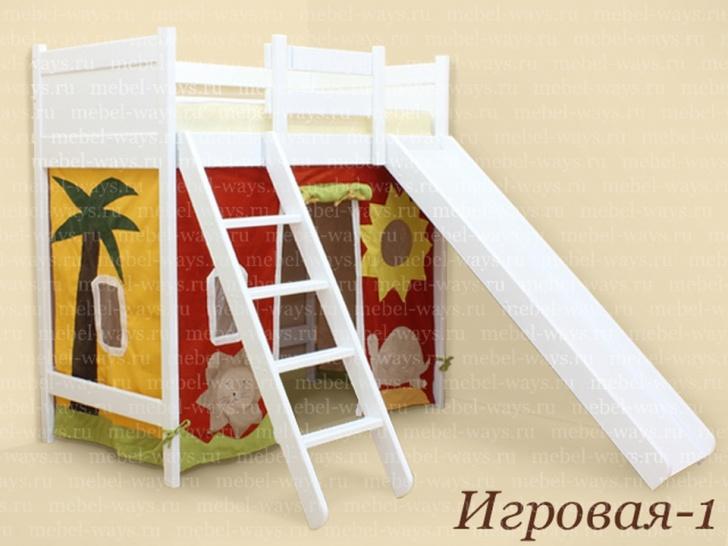 Кровать чердак для детей «Игровая-1»
