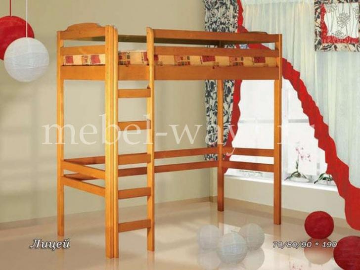 Кровать чердак для школьника «Лицей»