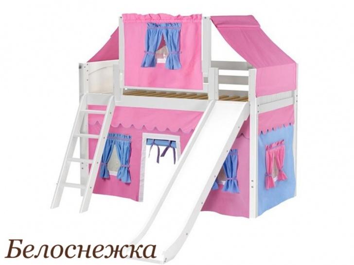 Детская кровать-чердак домик «Белоснежка»