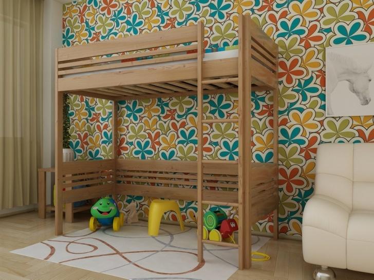 Кровать-чердак с игровой зоной «Руфина 25»