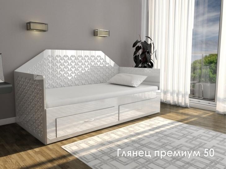Кровать диван с ящиком для белья «Глянец Премиум – 50»