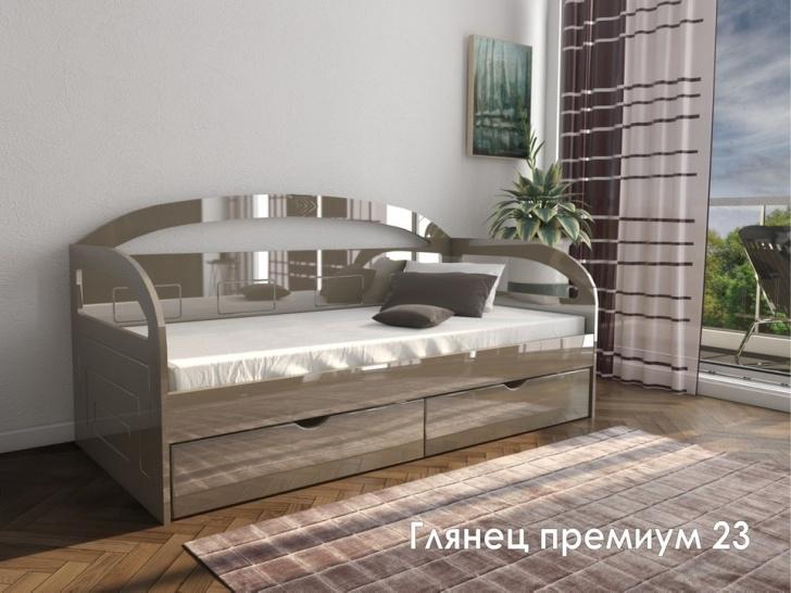 Кровать диван со спинкой «Глянец Премиум – 23»