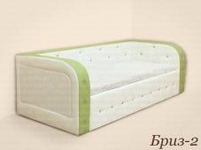 Детская кровать-диван с мягкой спинкой «Бриз-2»