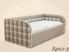 Детская диван кровать с мягким бортиком «Бриз-3»