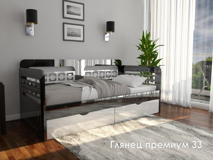Кровать диванчиком в глянце «Глянец Премиум - 33»
