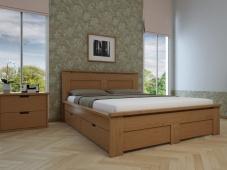 Кровать для дачи из дерева «Августина-12»